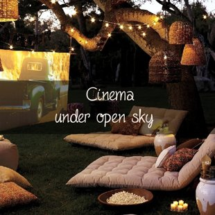 Cinema under open sky