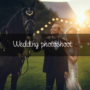 Wedding photoshoot